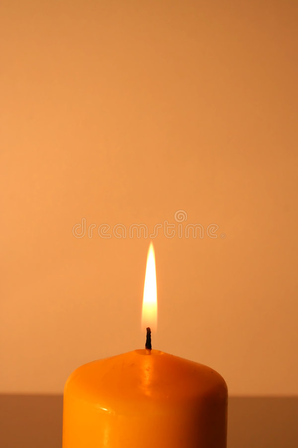 Brandende Kaars stock foto's