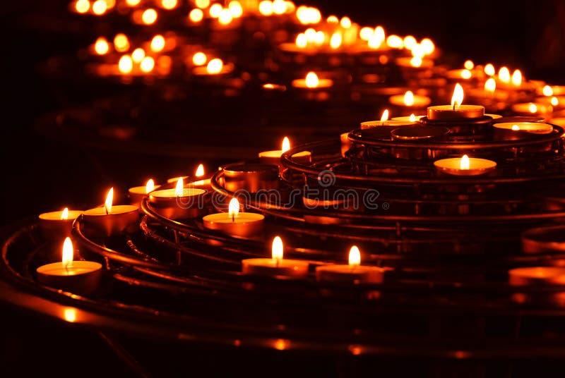 Brandende kaarsen royalty-vrije stock foto