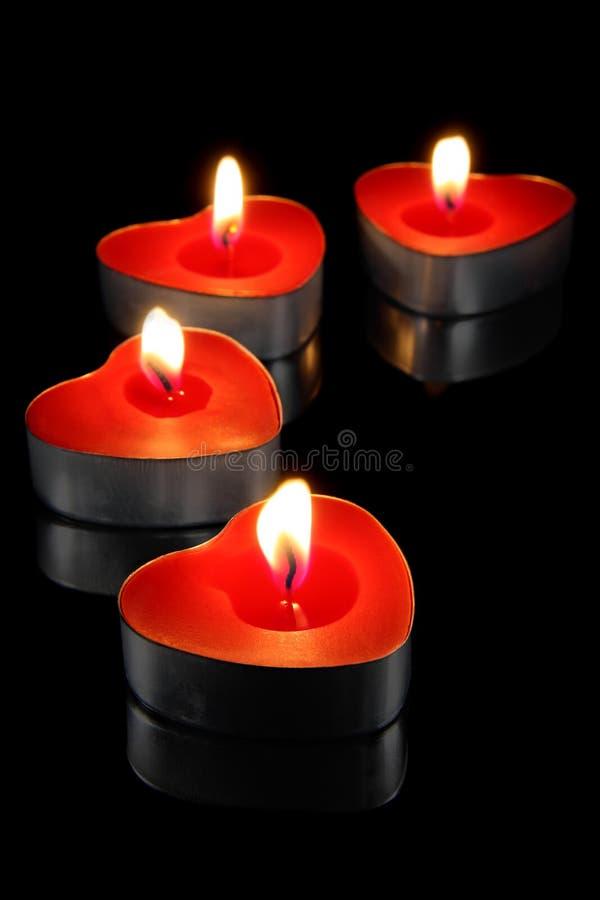 Brandende kaarsen stock foto