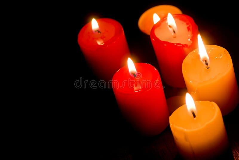 Brandende kaarsen royalty-vrije stock fotografie