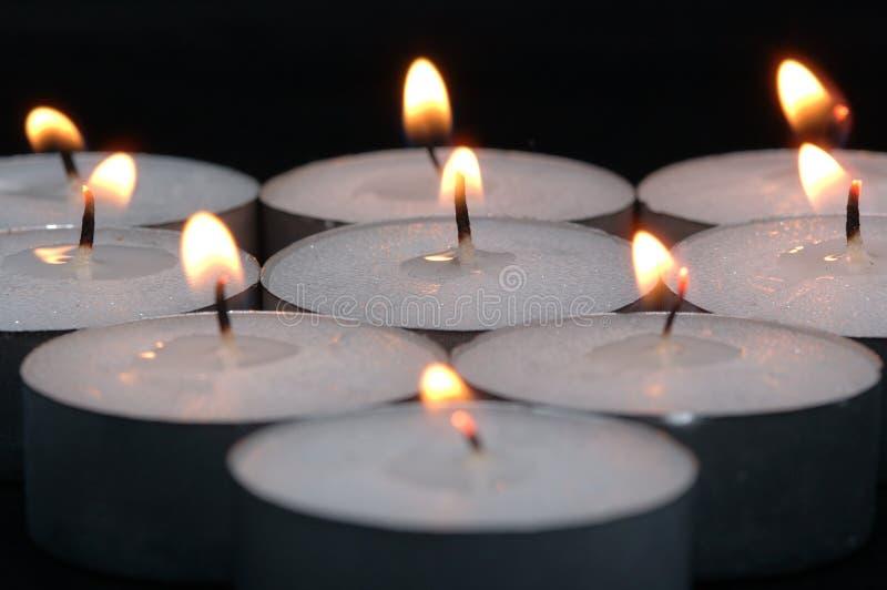 Brandende Kaarsen stock foto's