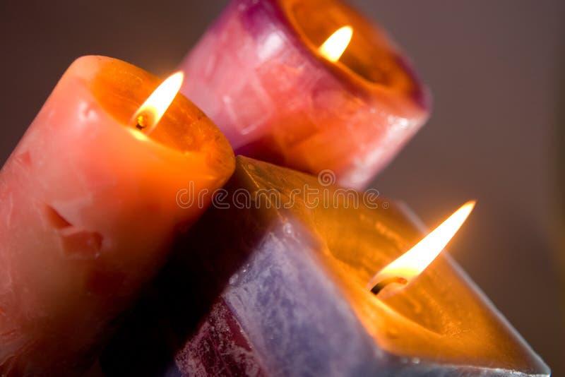 Brandende kaarsen royalty-vrije stock afbeelding