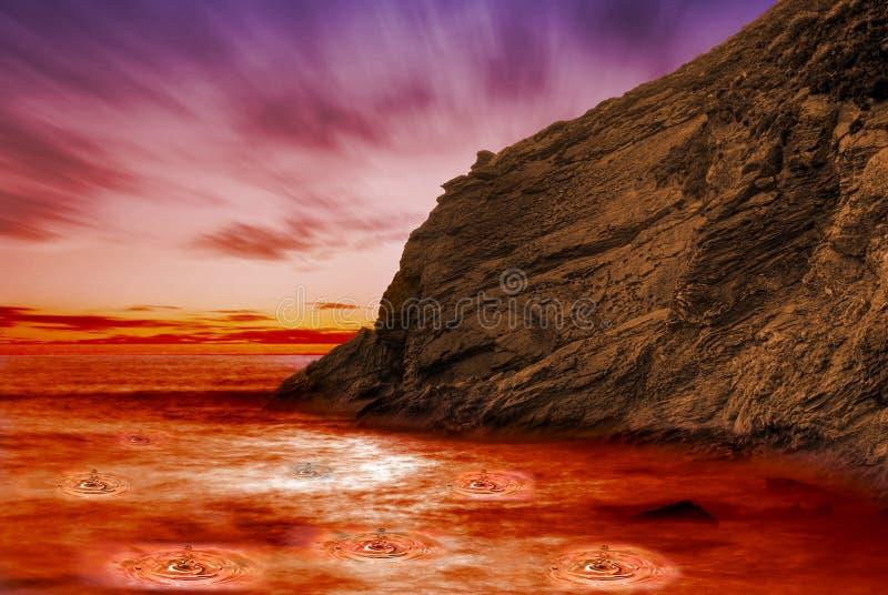Brandende lava royalty-vrije stock foto's