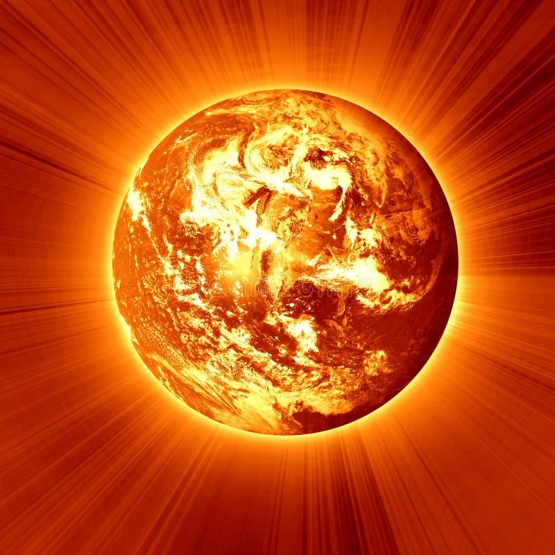 Brandende rode aarde royalty-vrije illustratie