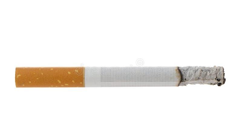Brandende sigaret met as stock foto's