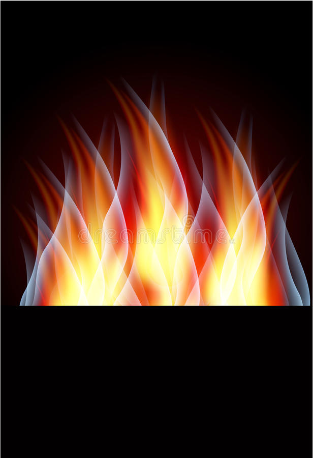 Brandende vlam vector illustratie