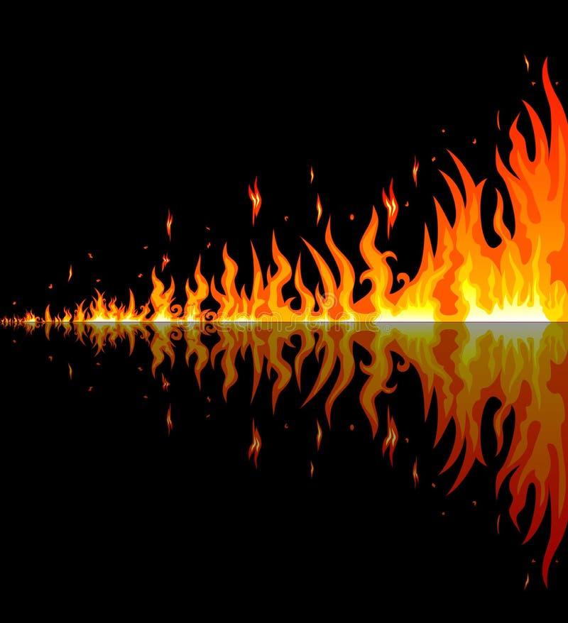 Brandende vlammen Abstracte brand Vlammen die Brand branden vector illustratie