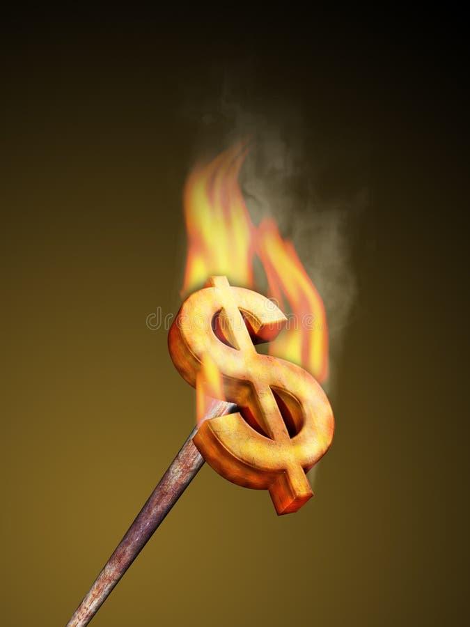 Brander du dollar illustration stock