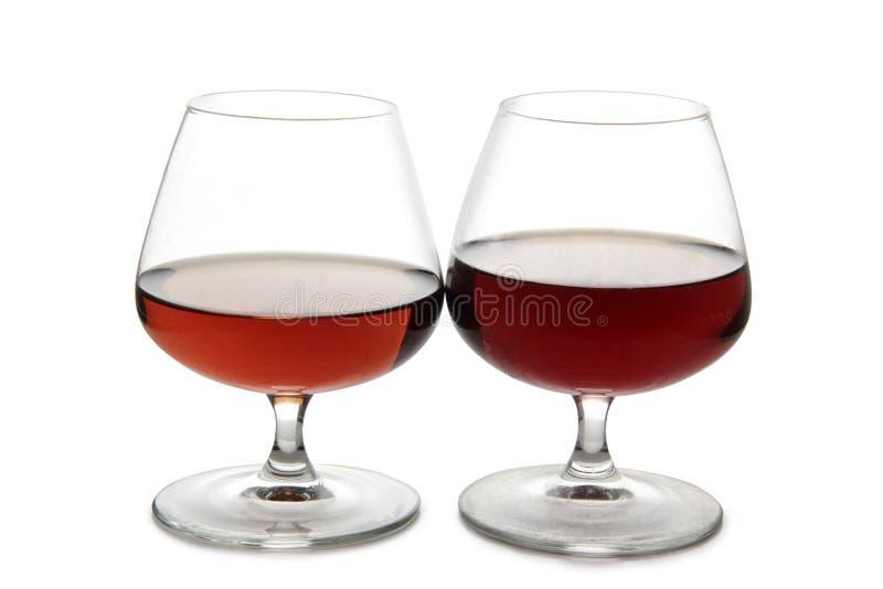 Brandewijn en cognac royalty-vrije stock foto's