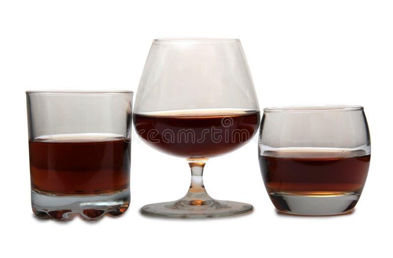 Brandewijn en cognac zes stock foto