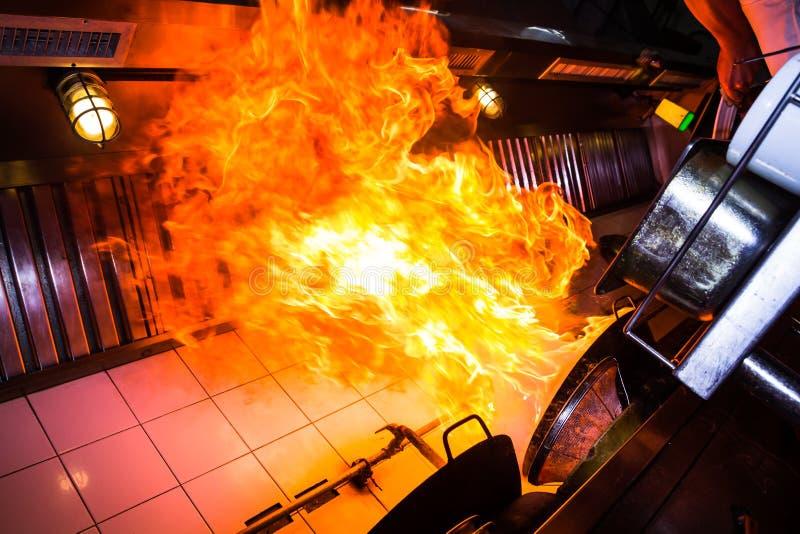 Brandfeuerkochen stockfotos