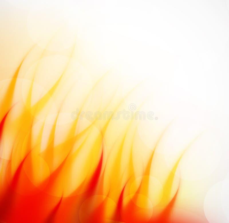 Brandflamma royaltyfri illustrationer