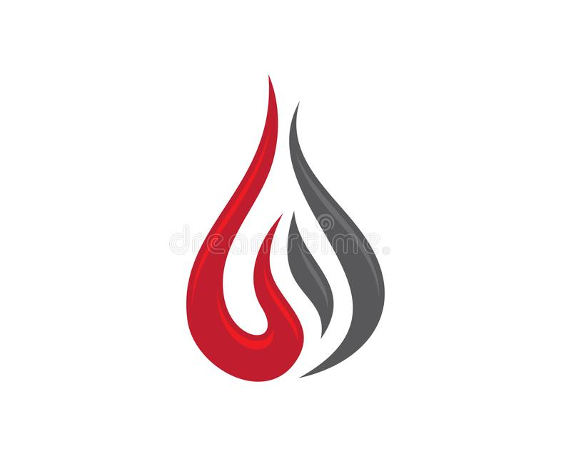 Brandflamma Logo Template vektor illustrationer