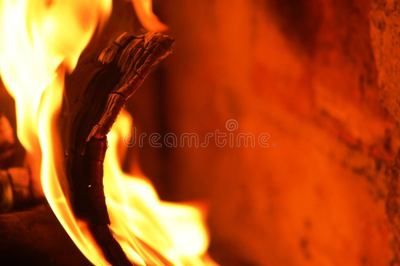brandflamma v royaltyfria bilder