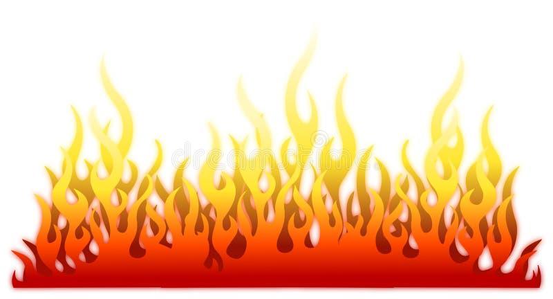 Brandflammen-Feuerhintergrund lizenzfreie abbildung