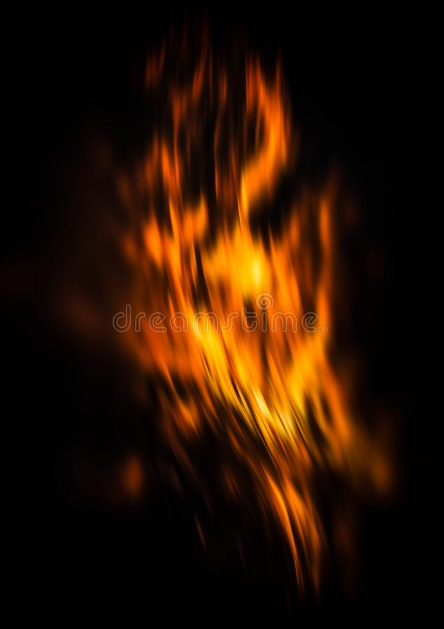 Brandflammor på en svart bakgrund fotografering för bildbyråer