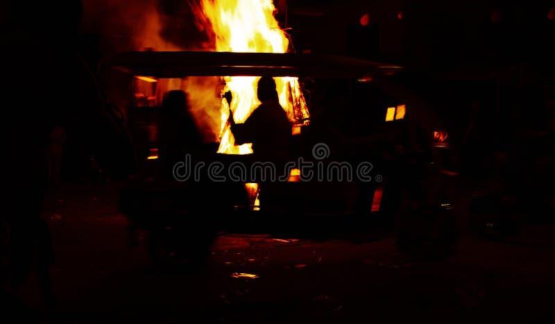 Brandgietmachine stock foto