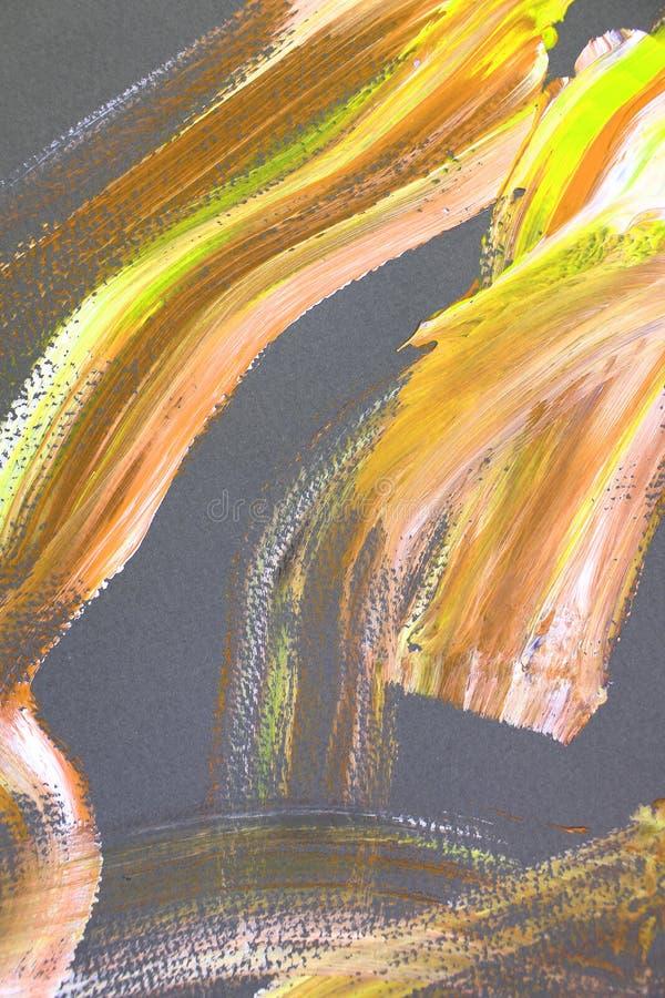 brandguling rusar slaglängder på kanfas abstrakt konstbakgrund F?rgtextur Fragment av konstverk abstrakt kanfasm?lning vektor illustrationer