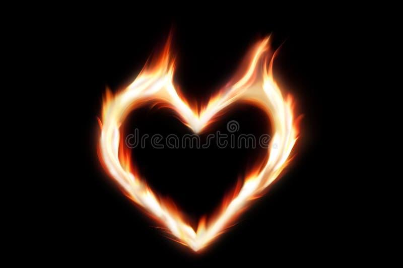 brandhjärta arkivfoton