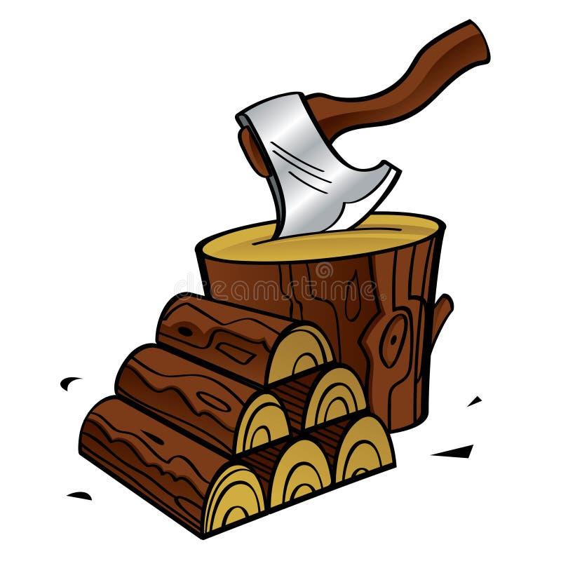 brandhout stock illustratie
