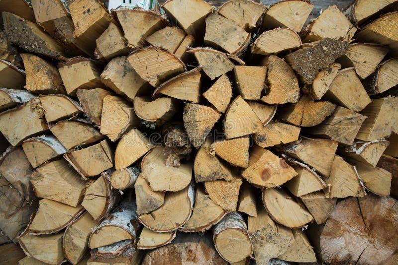 Brandhout voor de Winter stock afbeeldingen