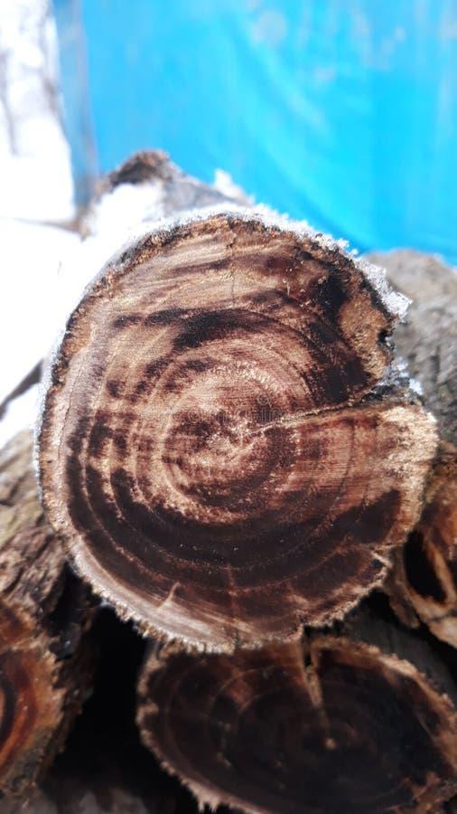 Brandhout voor de Winter royalty-vrije stock foto