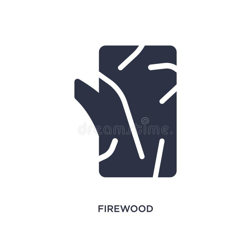 brandhoutpictogram op witte achtergrond Eenvoudige elementenillustratie van het kamperen concept stock illustratie