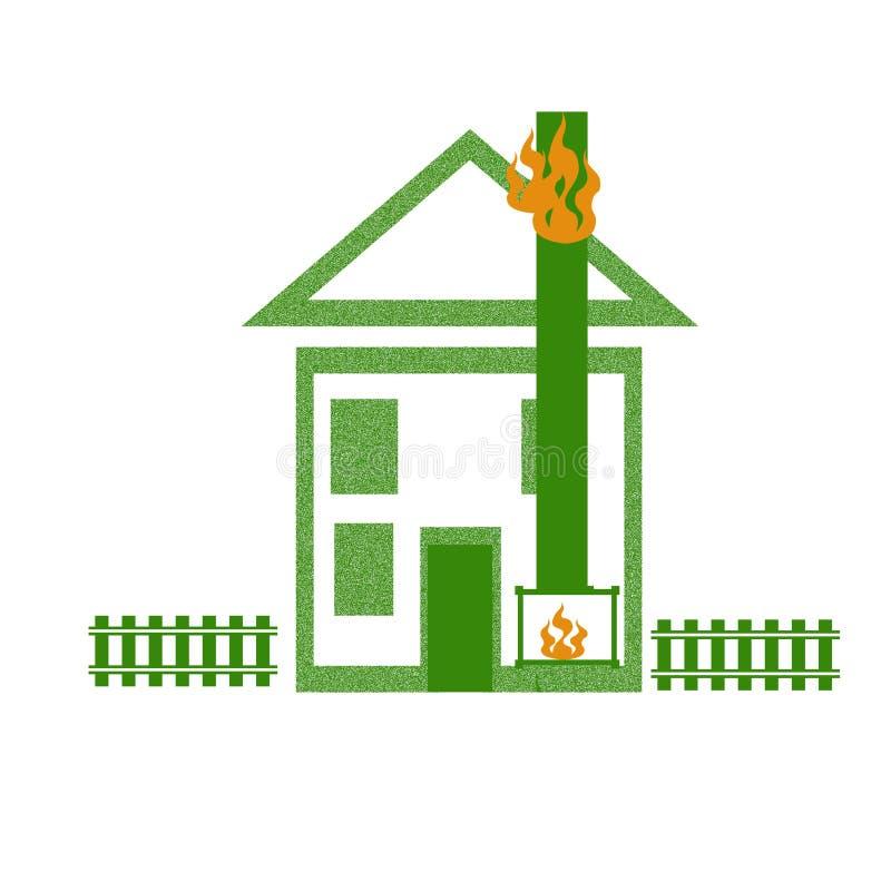 brandhusillustration vektor illustrationer