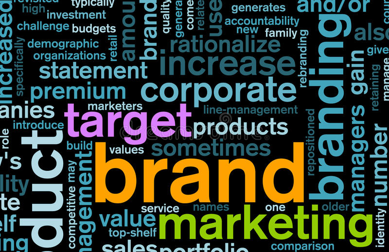 Branding. Of Market Product Word Cloud Background