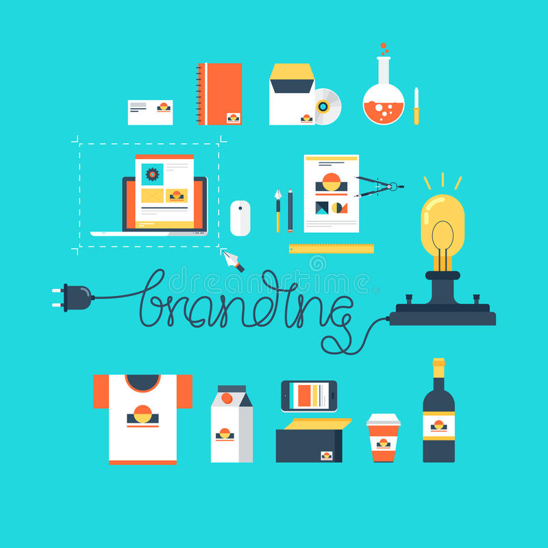 Branding stock illustration