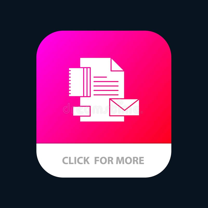 Branding, Brand, Business, Company, Identity Mobile App Button. Android and IOS Glyph Version stock illustration