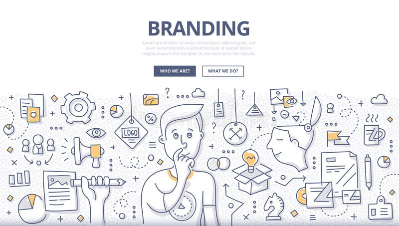 Branding Doodle Concept royalty free illustration
