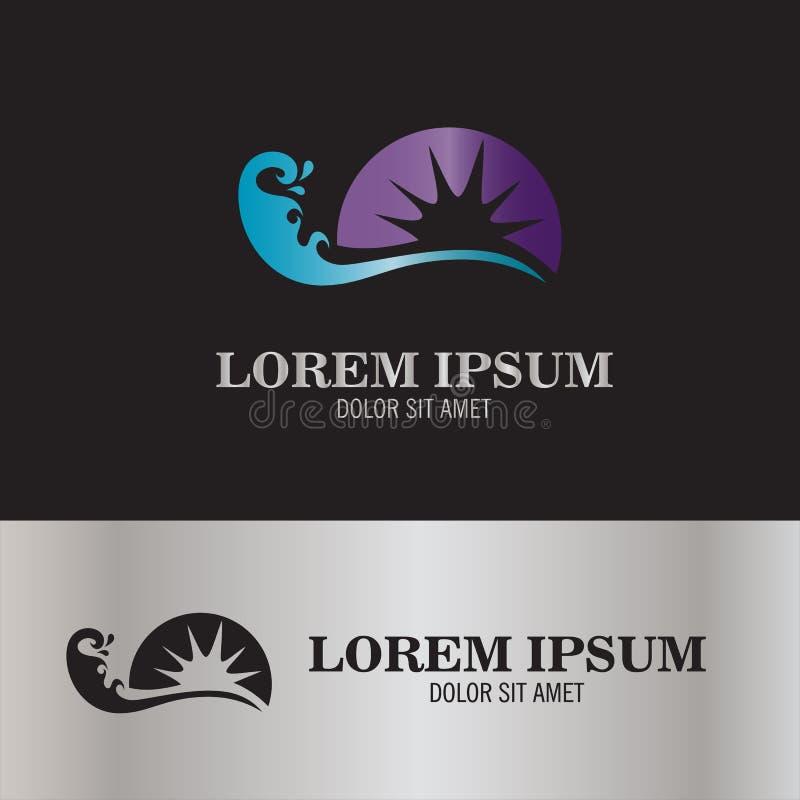 Branding en zonembleem stock illustratie