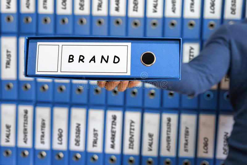 Branding-Geschäfts-Marketingstrategie-Konzept stockfotografie