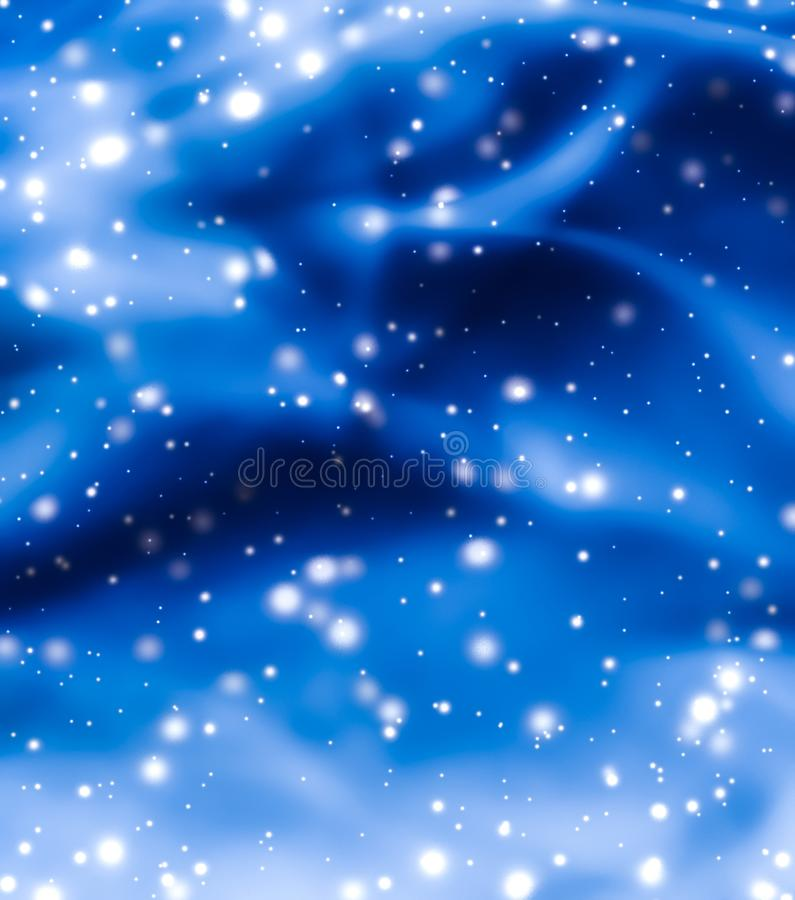 Christmas, New Years and Valentines Day blue abstract background, holidays card design, shiny snow glitter as winter season sale. Branding, magic and festive royalty free stock photography