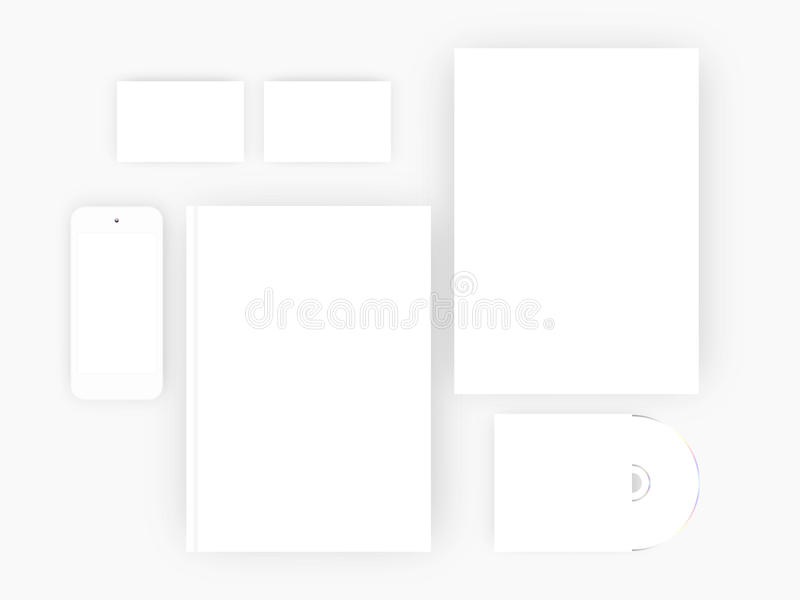 Branding Mock-up, vector illustration EPS 10 royalty free illustration