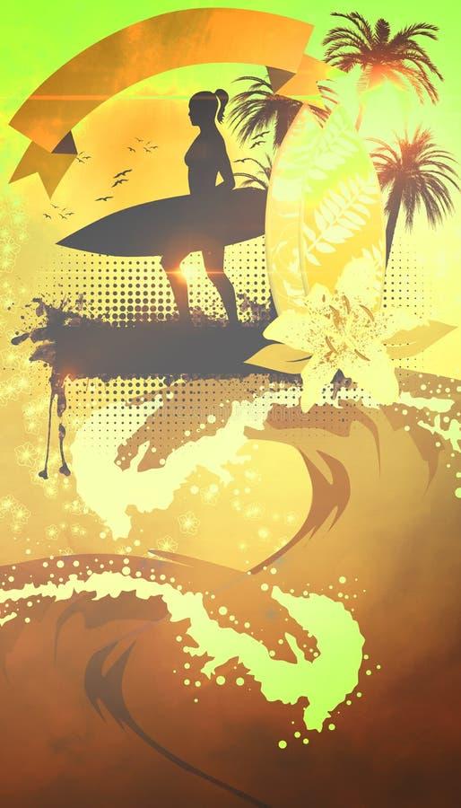 Brandingsachtergrond royalty-vrije illustratie