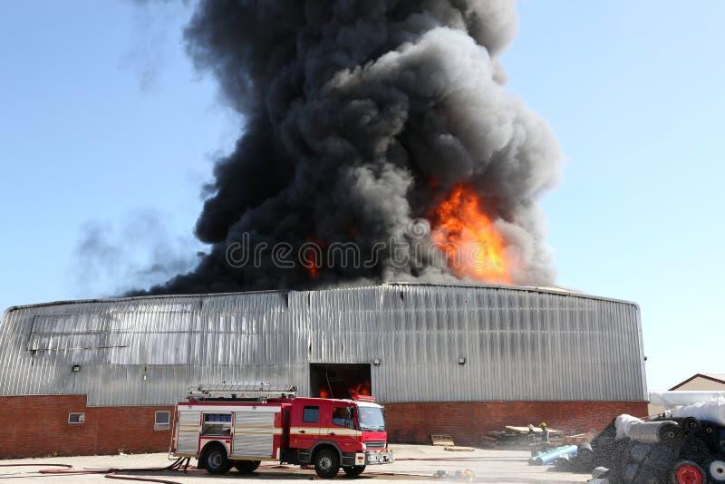 Brandkatastrof i lager royaltyfri bild