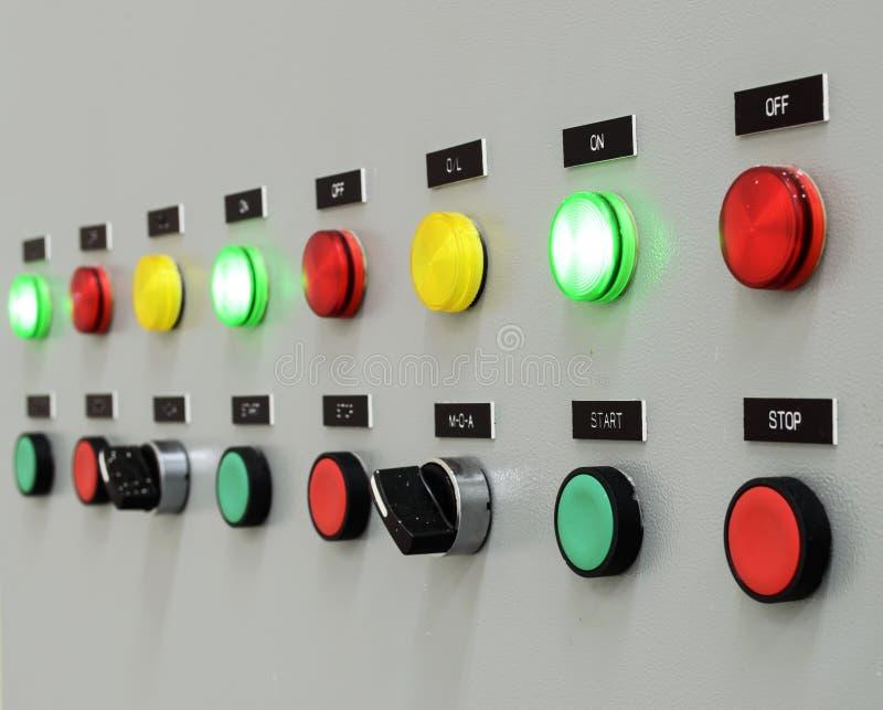 Brandkontrollbordet fotografering för bildbyråer