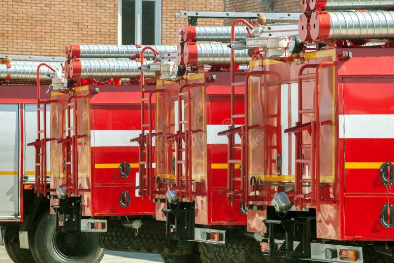 Brandlastbilar fotografering för bildbyråer