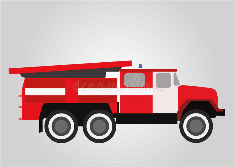 Brandlastbilen rusar på royaltyfri foto