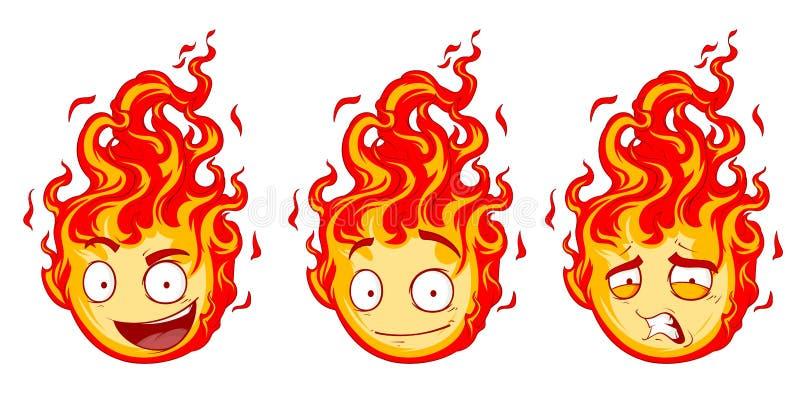 Brandleendeuppsättning vektor illustrationer