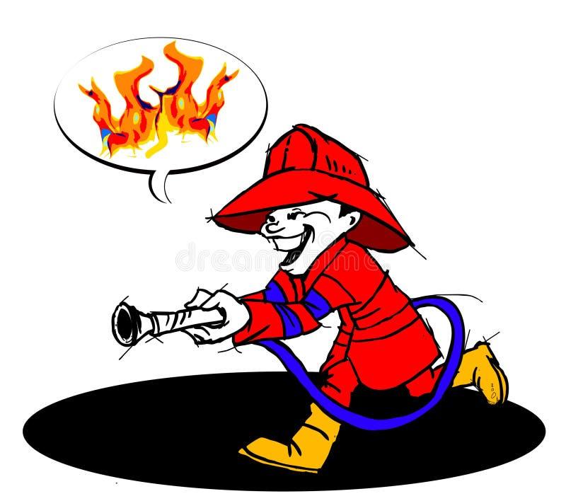 Download Brandman stock illustrationer. Illustration av rött, farligt - 37348648
