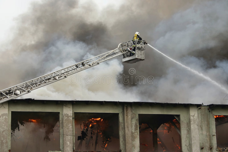 brandman för 3 arbetsuppgift royaltyfria bilder
