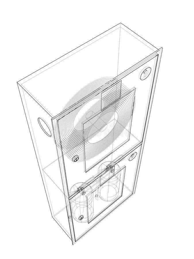 Brandmanhjälpmedel i kabinett för brandslang vektor stock illustrationer