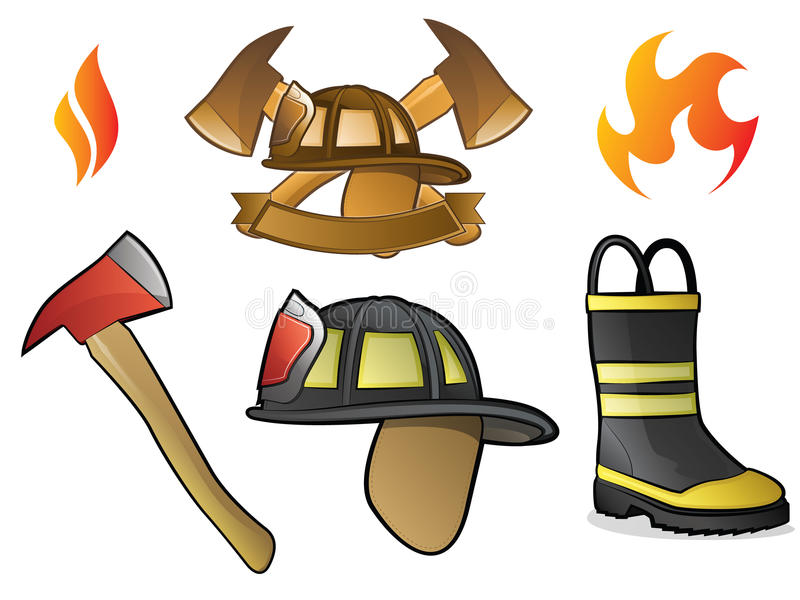 brandmanlogoer royaltyfri illustrationer