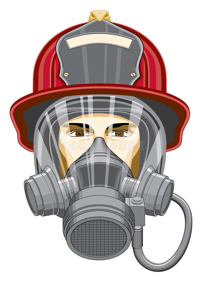 brandmanmaskering vektor illustrationer