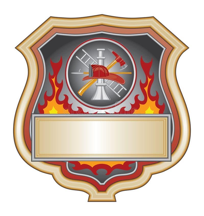 brandmansköld royaltyfri illustrationer