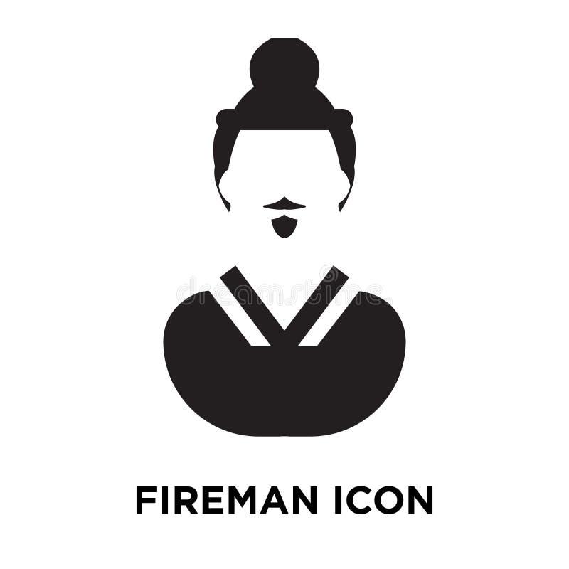 Brandmansymbolsvektor som isoleras på vit bakgrund, logobegreppsnolla royaltyfri illustrationer
