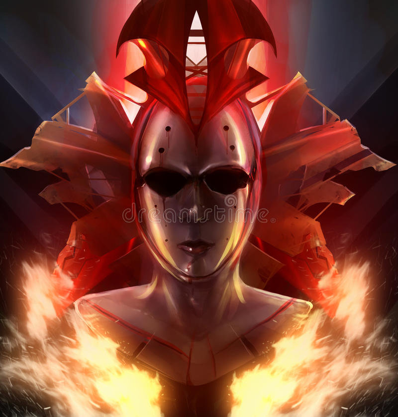 Brandmasker royalty-vrije illustratie